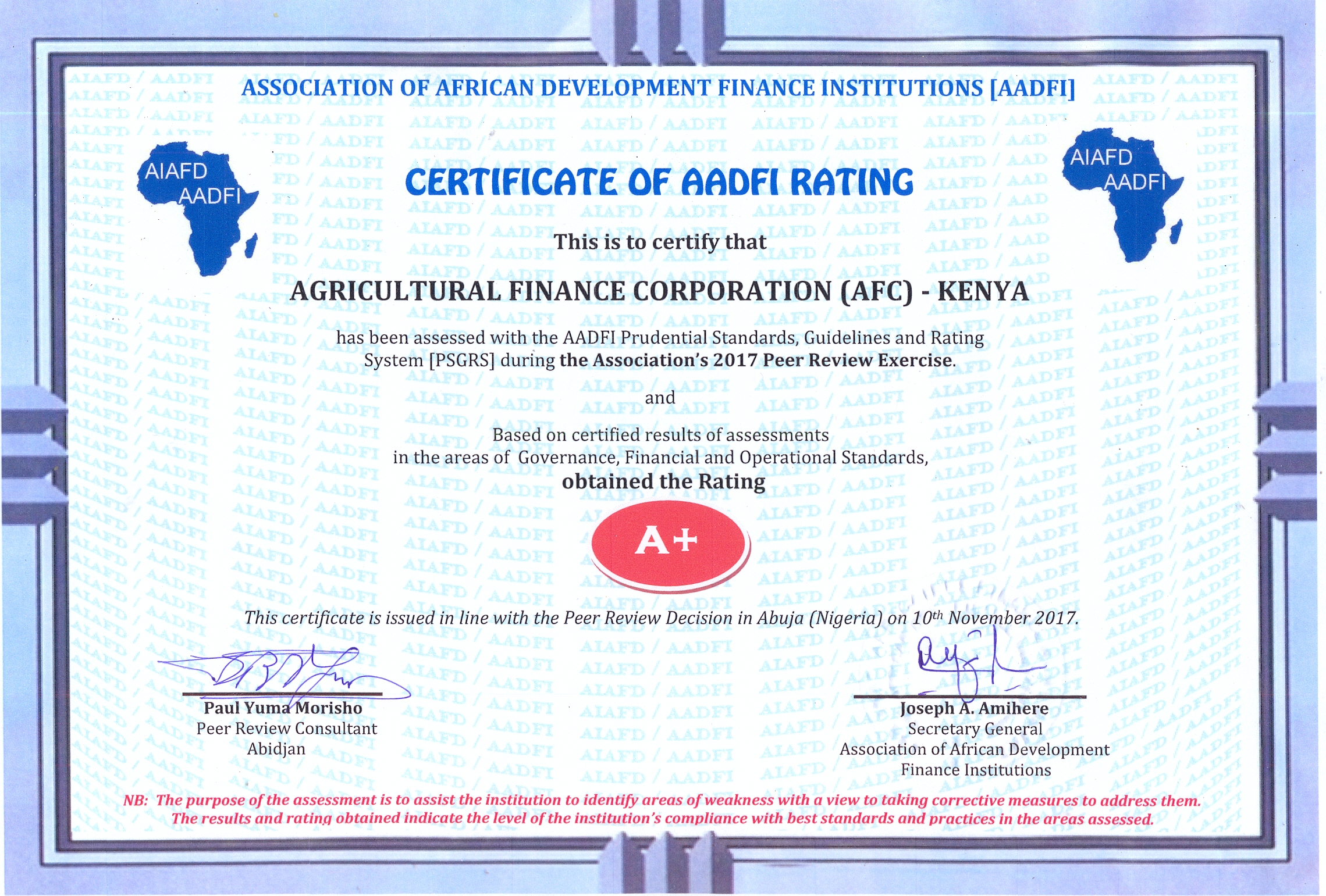 Afc agricultural finance corporation recent news madrichimfo Images